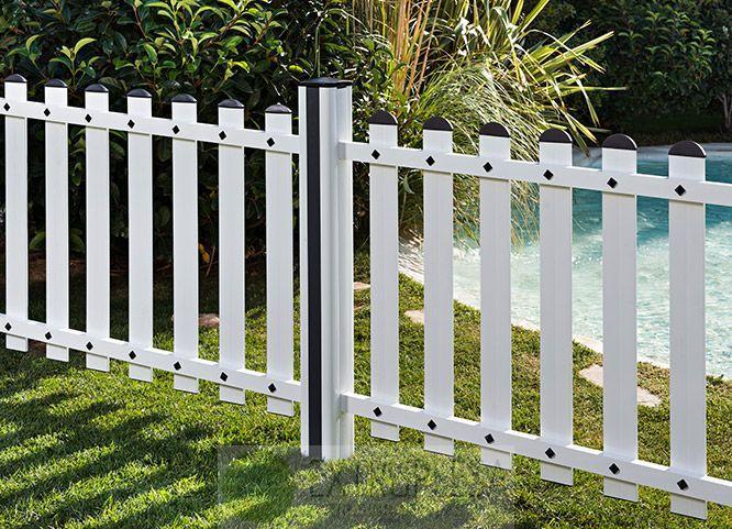 Vallas de pvc y productos de jard n extruplesa s a for Vallas decorativas para jardin